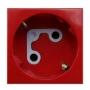Розетка 2к+З с ключом (45х45), красная