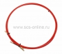 Протяжка кабельная (мини УЗК в бухте), стеклопруток, d=3,5мм, 3м красная