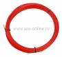 Протяжка кабельная (мини УЗК в бухте), стеклопруток, d=3,5мм, 25м красная