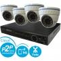 Комплект видеонаблюдения 960H PRO 4 + 4 Купол SONY Effio-E 700 TVL