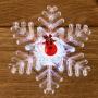 """""""Олень на снежинке"""" RGB на присоске 9,5*9,5 см"""