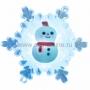 """""""Снеговик на снежинке"""" RGB на присоске 5,5*5,5 см"""
