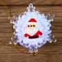 """""""Дед мороз на снежинке"""" RGB на присоске 5,5*5,5 см"""