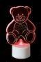 """Фигура светодиодная на подставке """"Мишка 2D"""", RGB Neon-Night"""