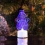 """Фигура светодиодная на подставке """"Снеговик с шарфом 2D"""", RGB Neon-Night"""