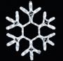 """Фигура """"Снежинка"""", цвет теплый белый, размер  30х28см"""