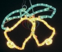"Фигура ""Два колокольчика"" цвет жёлт./зел., размер 35*28 см Neon-Night"