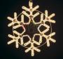 "Фигура ""Снежинка"" цвет белый, размер 55*55 см Neon-Night"