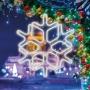 Фигура «Снежинка» из гибкого неона, 60х60 см, цвет свечения белый NEON-NIGHT