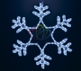 "Фигура ""Снежинка"" LED Светодиодная, без контр. размер 55*55см, синяя Neon-Night"