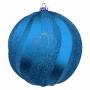 """Елочная фигура """"Шар Вихрь"""", 20 см, цвет синий (4шт) Neon-Night"""