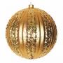 """Елочная фигура """"Полосатый шар"""", 20 см, цвет золотой (4шт) Neon-Night"""
