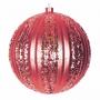 """Елочная фигура """"Полосатый шар"""", 20 см, цвет красный (4шт) Neon-Night"""