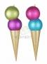 """Елочная фигура """"Мороженное"""" 80 см, цвет мульти Neon-Night"""