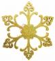 """Елочная фигура """"Снежинка """"Морозко"""", 66 см, цвет золотой Neon-Night"""