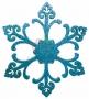 "Елочная фигура ""Снежинка ""Морозко"", 66 см, цвет синий Neon-Night"