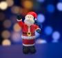 """3D фигура надувная """"Дед Мороз приветствует"""", размер 180 см, внутренняя подсветка 5 ламп, компрессор с адаптером 12В, IP 44  NEON-NIGHT"""