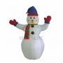 """3D фигура надувная """"Снеговик с шарфом"""", размер 180 см, внутренняя подсветка 2 лампы, компрессор с адаптером 12В, IP 44 Neon-Night"""