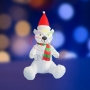 """3D фигура надувная """"Белый медведь"""", размер 120 см, внутренняя подсветка 5 ламп, компрессор с адаптером 12В, IP 44 Neon-Night"""
