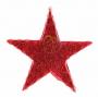 """Фигура """"Звезда"""" бархатная, с постоянным свечением, размеры 45 см (43 красных светодиода)"""