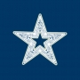 Светодиодная фигура «Звезда» 80 см, 80 светодиодов, с трубой и подвесом, цвет свечения теплый белый/белый NEON-NIGHT