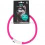 Ошейник для собак прогулочный, светодиодный, 70 см, розовый (MNF19)  MONELLA