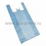 Пакет майка ПНД 30+16*60, 15мкм синяя (Цена за шт.,в уп.100 шт.)