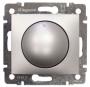 Светорегулятор поворотный 400Вт Алюминий Valena