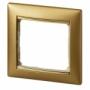 Рамка 1п матовое золото Valena