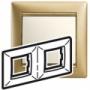 Рамка 2п горизонтальная матовое золото Valena