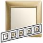 Рамка 5п горизонтальная матовое золото Valena