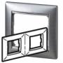 Рамка 2п горизонтальная алюминий матовый Valena