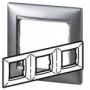 Рамка 3п горизонтальная алюминий матовый Valena