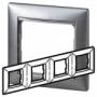 Рамка 4п горизонтальная алюминий матовый Valena