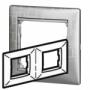 Рамка 2п горизонтальная алюминий модерн Valena