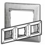 Рамка 3п горизонтальная алюминий модерн Valena
