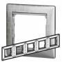 Рамка 5п горизонтальная алюминий модерн Valena
