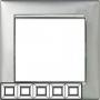 Рамка 5п горизонтальная Алюминий/Серебро Valena