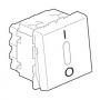 Механизм выключателя 1кл. двухполюсный с подсветкой с/п 2 модуля белый Mosaic