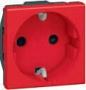 Розетка электр. 2К с заземлением н.ст. с блокировкой красная Mosaic