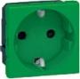 Розетка электр. 2К с зазем., н.ст. зеленая Mosaic