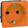 Розетка электр. 2К с зазем., н.ст. оранжевая Mosaic