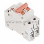 Автоматический выключатель BKN 2P C16A, тип C, 2 полюса, 6кА, 240/415В, номинальный ток 16A
