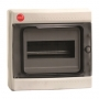 Щиток настен. с дверцей, 8 мод.,IP65, серый