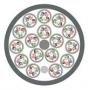 Кабель витая пара, экранированная S/FTP, категория 7, 64 пары (4 пары (26AWG)х16), многожильный (patch), каждая пара в фольге, каждый 4х парник - медная оплетка 55%, FR-LSZH IEC 60332-1, -30°C - +70°C, светло-серый Teldor