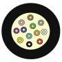 Кабель волоконно-оптический XGLO 9/125 (OS2) одномодовый, 12 волокон, tight buffer, внутренний, LSOH, -20°C - +70°C, желтый Siemon