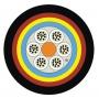 Кабель волоконно-оптический XGLO, 9/125 (OS1/OS2) одномодовый, 4 волокна, loose tube, бронированный, внешний, MDPE, -30°C - +60°C, черный (1000 м) Siemon