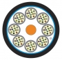 Кабель волоконно-оптический XGLO 50/125 (OM3) многомодовый, 48 волокон, tight buffer, внутренний/внешний, LSOH3C (IEC 60332-3), -20°C - +70°C, черный Siemon