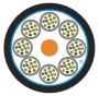 Кабель волоконно-оптический XGLO 50/125 (OM4) многомодовый, 72 волокна, tight buffer, внутренний/внешний, LSOH3C (IEC 60332-3), -20°C - +70°C, черный Siemon
