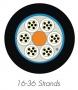 Кабель волоконно-оптический XGLO 9/125 (OS1/OS2) одномодовый, 36 волокон, loose tube, внутренний/внешний, LSOH3C (IEC 60332-3), -40°C - +60°C, черный Siemon